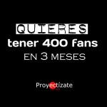 lunes Proyectizate community manager posicionamiento pagina web redes sociales alcoy ibi alicante 400 fans ok