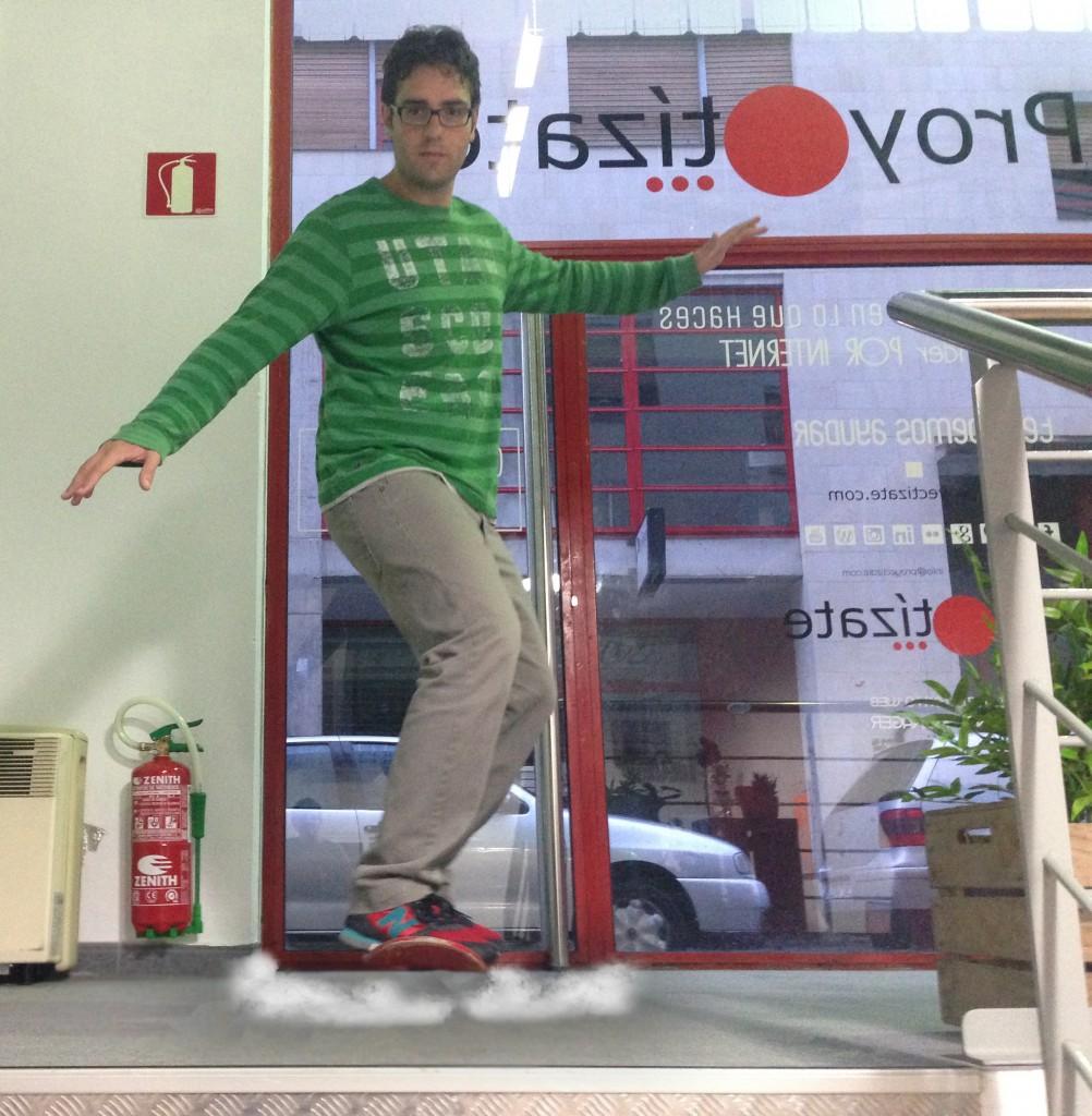 Raul volando