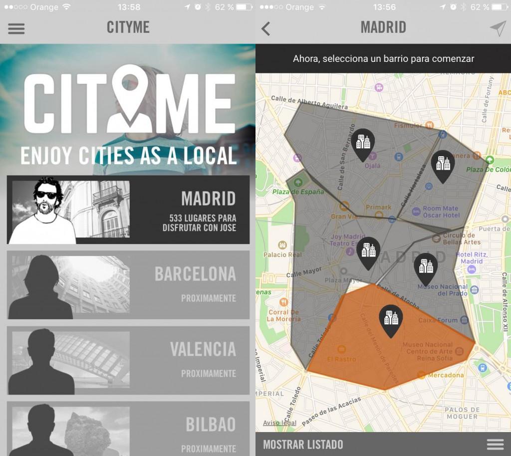 Aplicación para Turismo CityMe