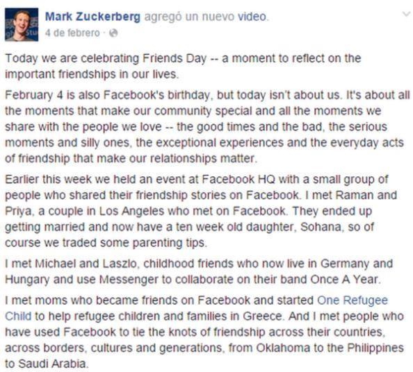 4 febrero dia de la amistad en Facebook