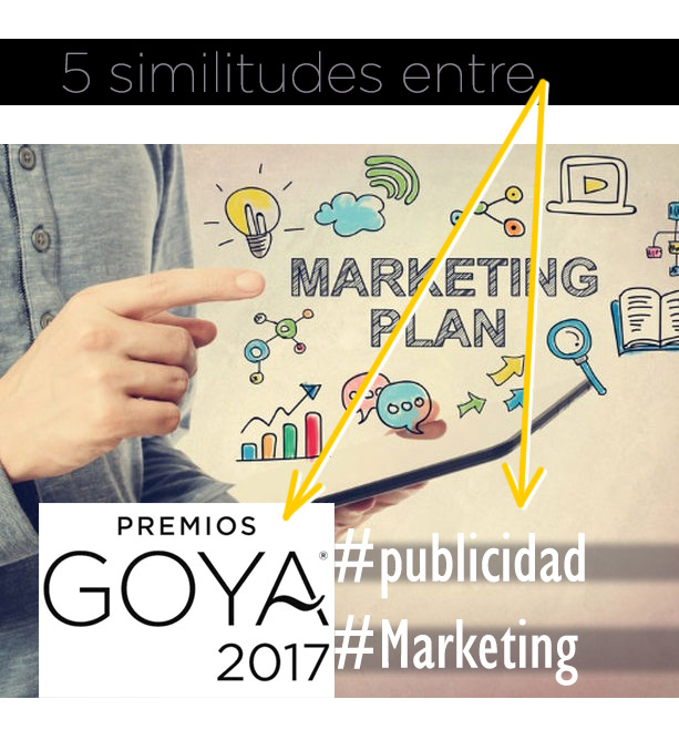 marketing y premios Goya - parecidos