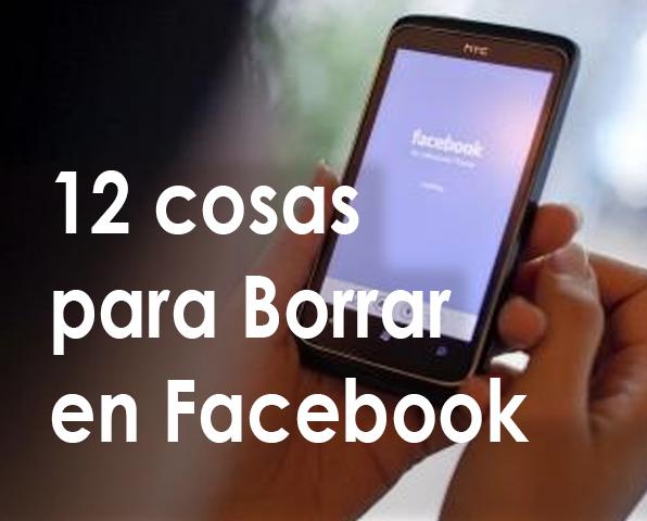 cosas para borrar en facebook