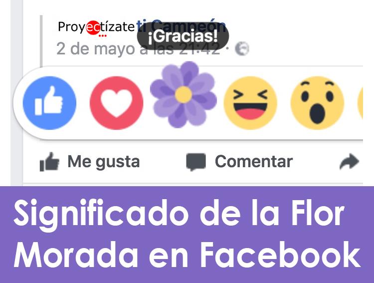 flor morada en facebook